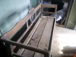 100 eves bontott cserefa fiokos [kanape] pad stb