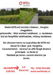 4581 m2 terület Libánon