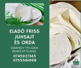 Folyamatosan juh sajt, túró, orda, vegyes sajt