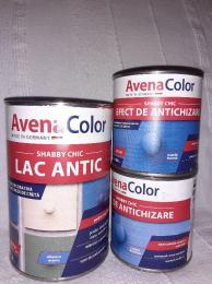 Kék színű vízbázisú kézműves lakk és antikoló festék
