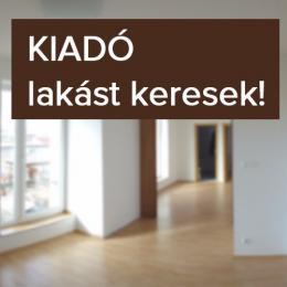 KERESEK Kiadó 2 szobás lakást