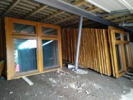 Nagyméretű fa ablakok