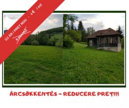 ÚJ ÁR / PREȚ NOU: 4 eur/m2 - 1 hektár belterület Marosfő