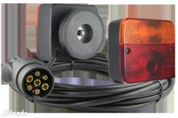 Utánfutó el. vezérlő 7pin/7,5m mágneses lámpákkal