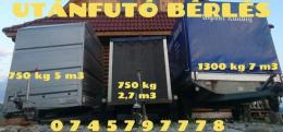 Utánfutó / remorka bérlés 450-550-750-1300kg, jó feltételek!