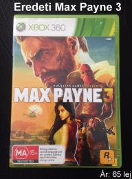 Xbox 360 Max Payne 3 - Eredeti játék
